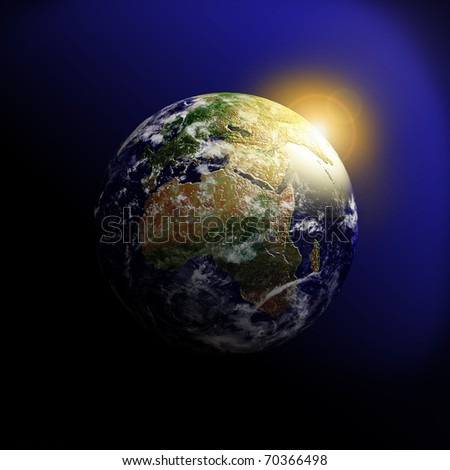 Planet Earth. Data source: NASA - stock photo