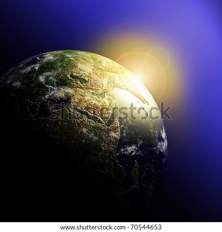 Planet Earth.Data source: NASA - stock photo