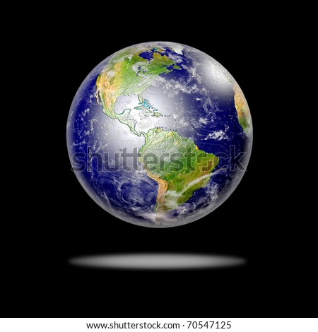 Planet Earth. Data source: NASA - stock photo
