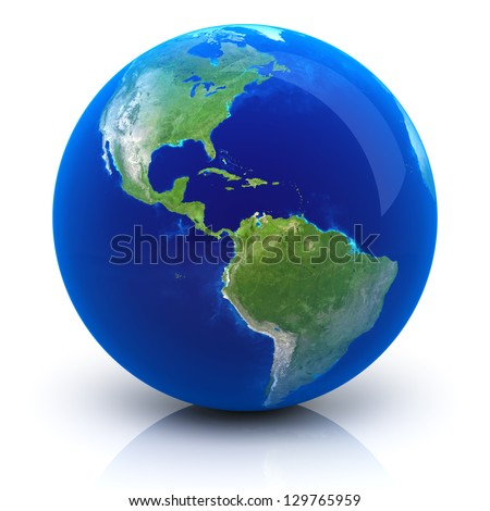 Planet Earth - Earth map provided by NASA - stock photo