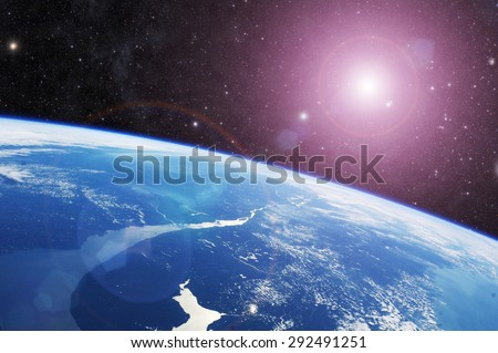 planet earth Elements of this image furnished by NASA - stock photo