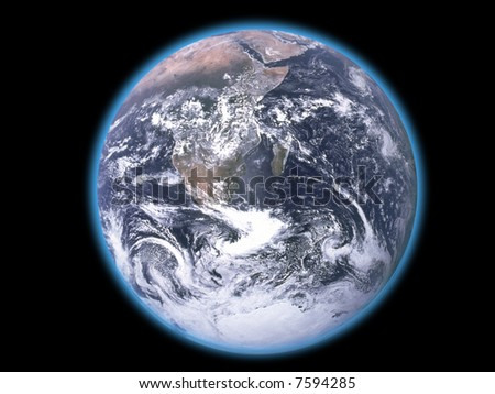 Planet Earth from space - stock photo