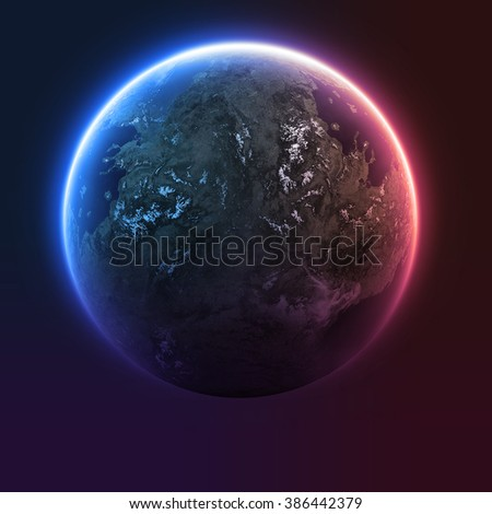 Planet earth from the space. - stock photo