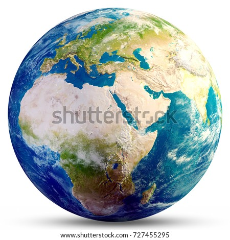 Planet Earth globe. Elements of this image furnished by NASA. 3d rendering