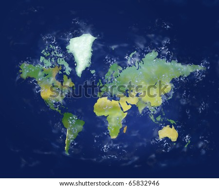 Planet earth. Highly detailed and realistic Illustration with all major continents.