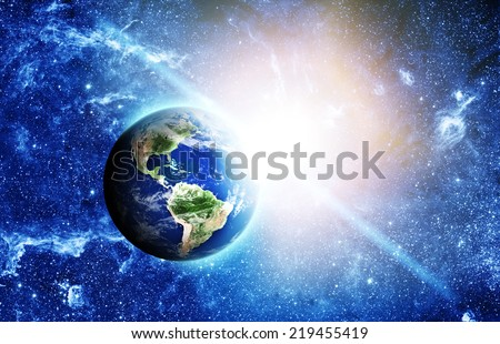 planet earth in space Elements of this image furnished by NASA  - stock photo