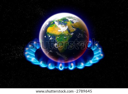 planet earth in space global warming concept