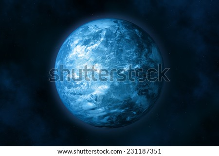Planet earth in space. Stars and Nebula. In the creation of 3D-image textures used by NASA. - stock photo