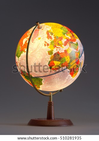 Planet Earth in the globe.