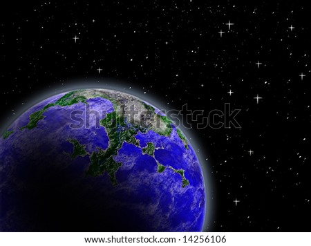 planet earth in the outer space