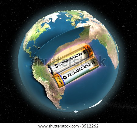 Planet Earth is it rechargeable or not? How many resources we have left? - stock photo