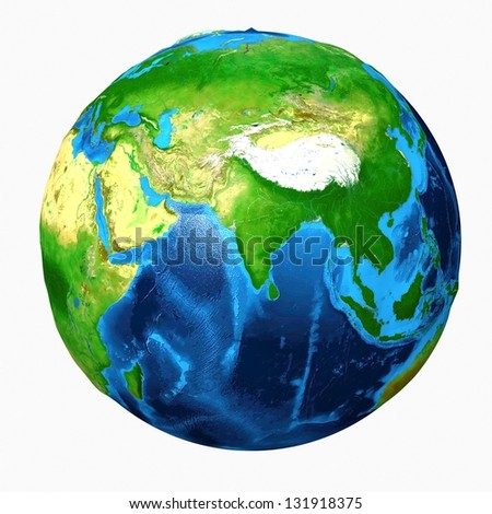 Planet earth. isolated on white background - stock photo