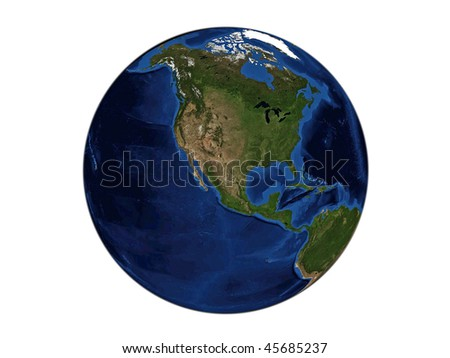 Planet Earth - North America, data source: NASA - stock photo