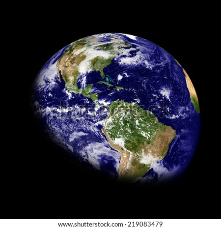 Planet earth on a black background.Elements of this image are furnished by NASA