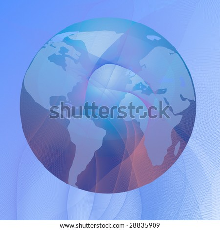 planet earth on a soft blue background