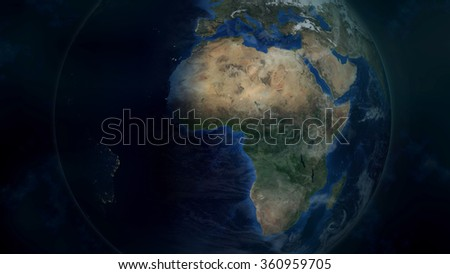 Planet Earth Render (Elements of this image furnished by NASA)