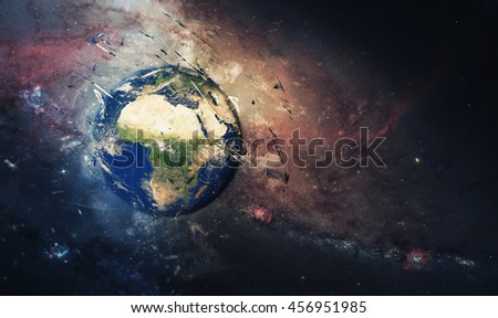 Planet Earth's Universal Artwork - Splash Painting Style - Africa & Mediterranean (Elements of this image furnished by NASA)