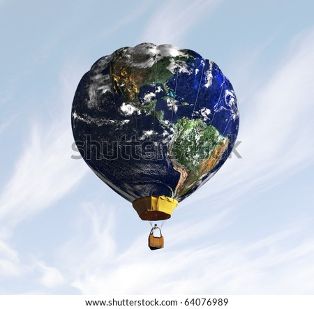 Planet Earth stylized like a balloon. - stock photo