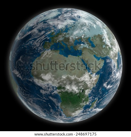 Planet Earth - Texture image by NASA - stock photo