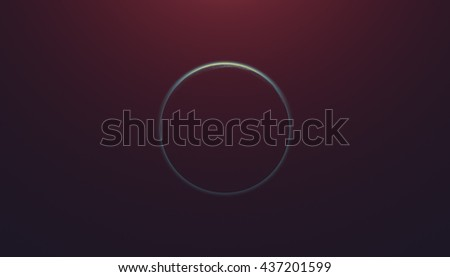 Planet eclipse on a starless sky. Digital illustration, no elements of NASA or other third party. - stock photo