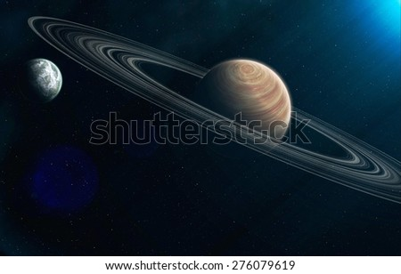 Planet.Elements of this image furnished by NASA - stock photo