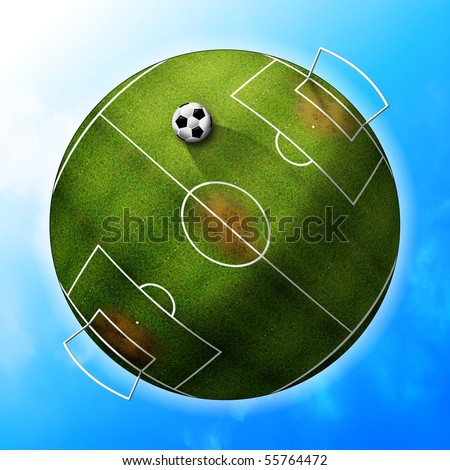 planet football - stock photo