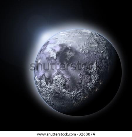 Planet Ice - stock photo