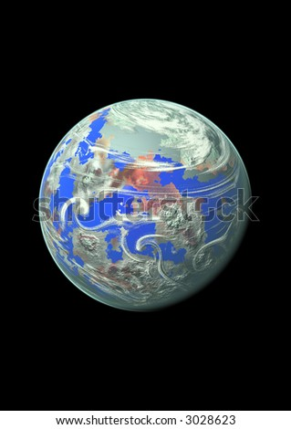 Planet isolated, insulated, white background, for designer, sphere