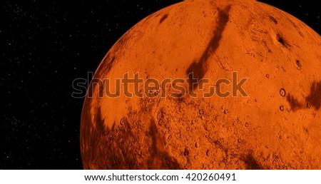 Planet mars. - stock photo