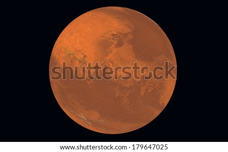 Planet Mars, Elements of this image furnished by NASA