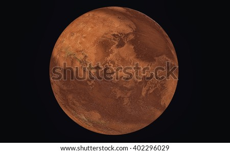 Planet Mars, Elements of this image furnished by NASA - stock photo