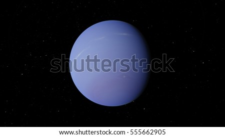 Planet Neptune (Elements of this image furnished by NASA)