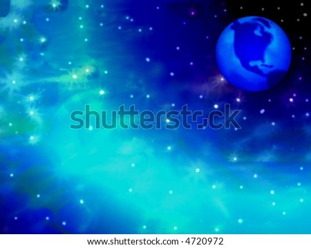 planet on the space - stock photo