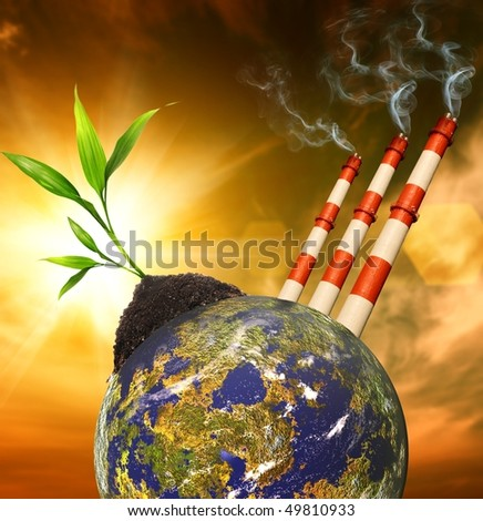 Planet pollution - stock photo