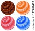 Planet sphere icons. illustration - stock photo