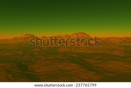 Planet surface. Fantastic planet - stock photo