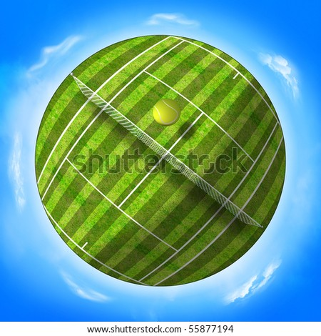 planet tennis - stock photo