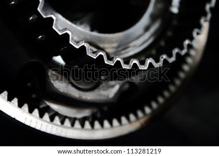 planetary gear close-up - stock photo