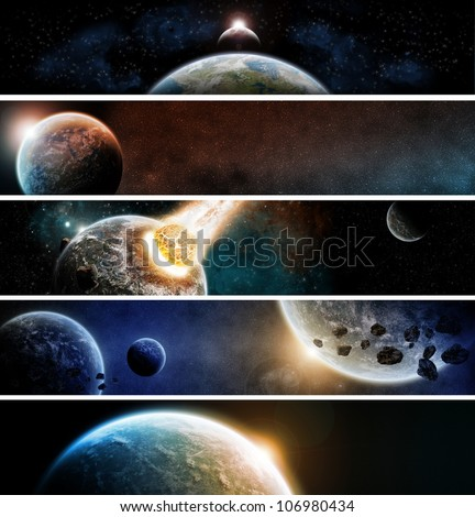 Planets apocalypse banner pack