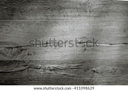 Plank black and white wood texture - stock photo