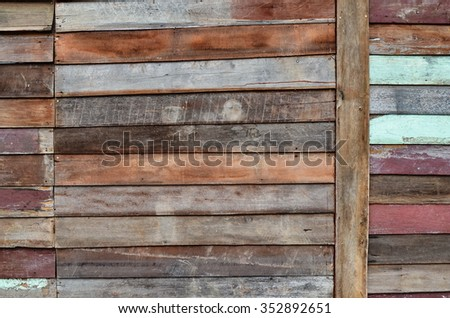 Planks wall.