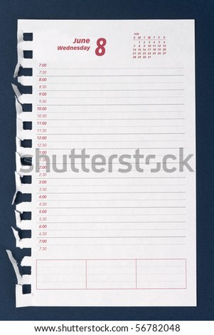 Planner, Memo Schedule close up shot - stock photo