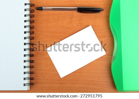 planner, sticky note and pen - stock photo