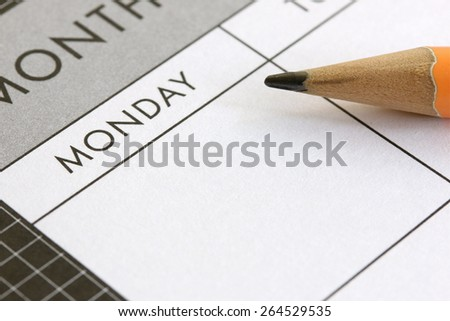 Planning A Week - stock photo