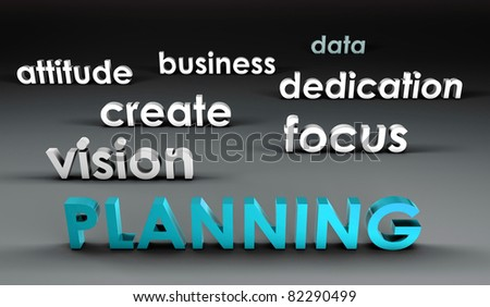 Planning at the Forefront in 3d Presentation - stock photo