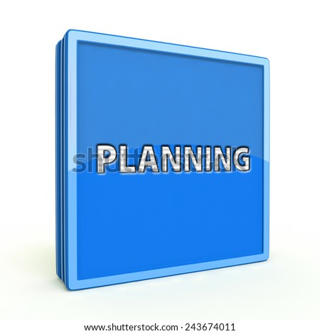 Planning square icon on white background