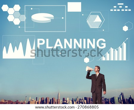 Planning Statistics Financial Marketing Growth Data Concept - stock photo
