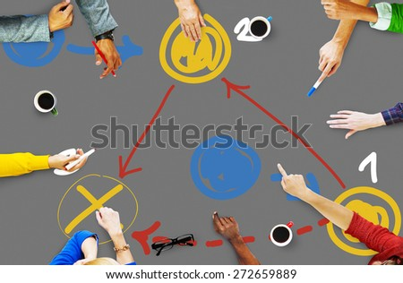 Planning Strategy Thinking Tactic Step Shortcut Concept - stock photo