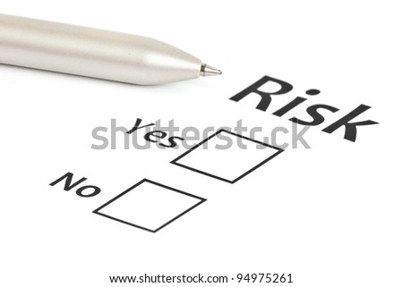 planning the business risk - stock photo