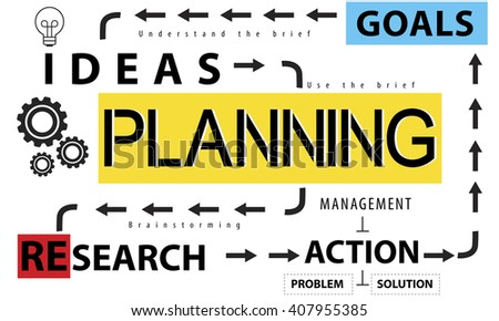 Planning Vision Objectives Guide Design Process Concept - stock photo